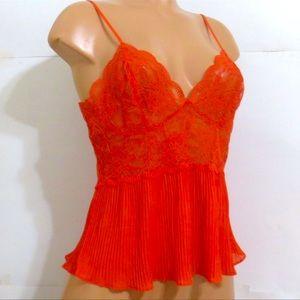 Victoria's Secret L Sexy Bold Orange Tank Top